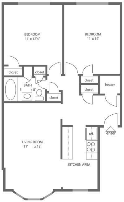 Canterbury Apartments 2 Bedroom Townhouse