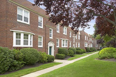... Outside view of Canterbury Apartments in Mt. Airy - Galman Group ...