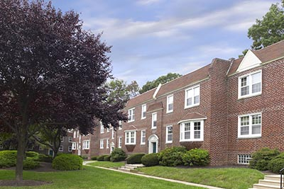 ... Outside view of Mt. Airy apartments at Canterbury Apartments - Galman  Group ...