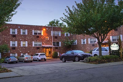 Front view of Donna Court Philadelphia Mt. Airy apartments - Galman Group