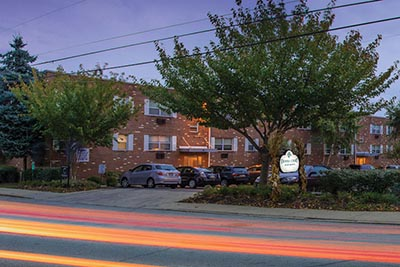 Second front view of Donna Court Philadelphia Mt. Airy apartments - Galman Group