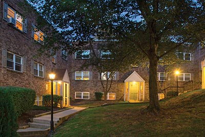 Outside view of Mt. Airy apartments at Forest Station - Galman Group