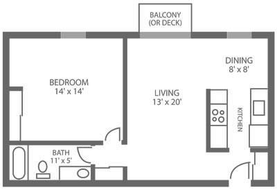 Green Valley Manor 1 Bedroom A