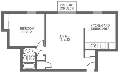 Green Valley Manor 1 Bedroom B
