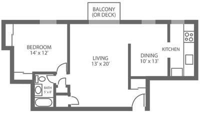 Green Valley Manor 1 Bedroom C