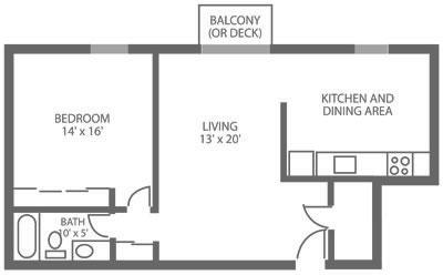 Green Valley Manor 1 Bedroom D