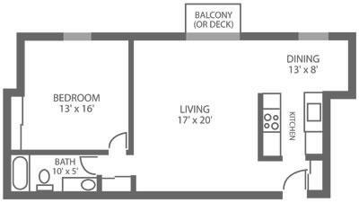 Green Valley Manor 1 Bedroom F