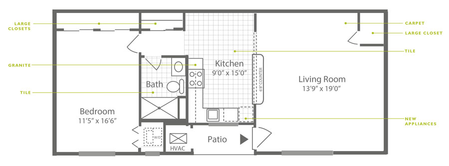 Knightsbridge 1 Bedroom Downstairs