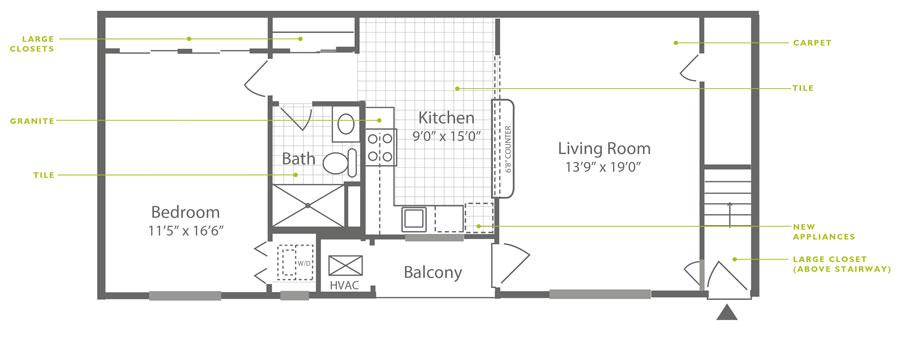 Knightsbridge 1 Bedroom Upstairs