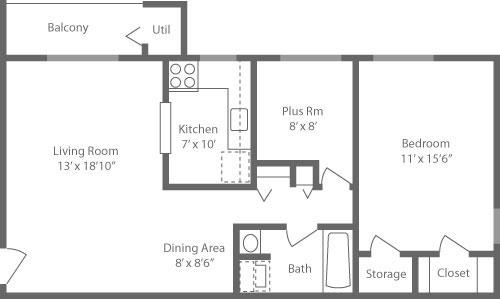 Lansdowne Station 1 Bedroom Den