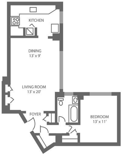 The McCallum 1 Bedroom B