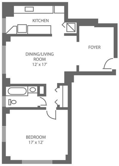 The McCallum 1 Bedroom D