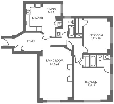 The McCallum 2 Bedroom B