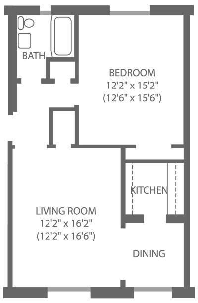 Montgomery Court 1 Bedroom A