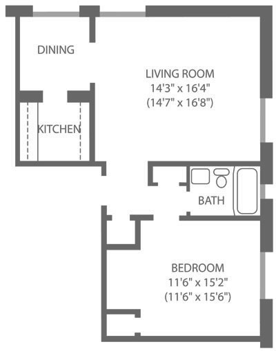 Montgomery Court 1 Bedroom C