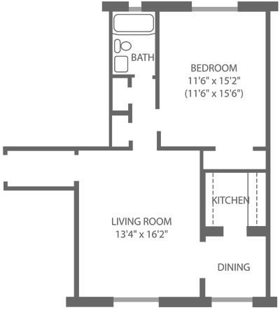 Montgomery Court 1 Bedroom D