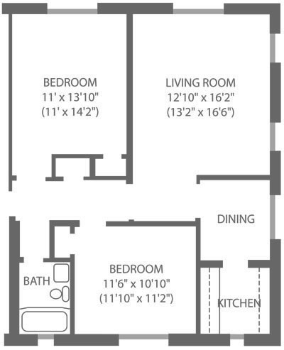 Montgomery Court 2 Bedroom A