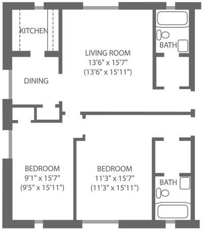 Montgomery Court 2 Bedroom B