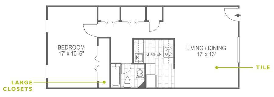 North Lane 1 Bedroom Malvern