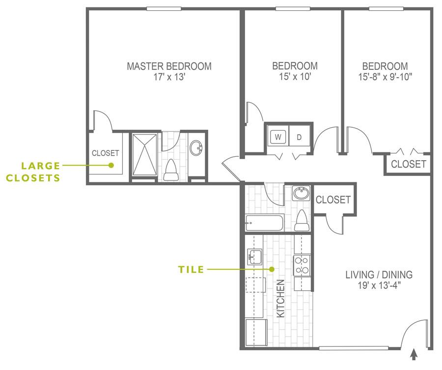 North Lane 3 Bedroom Rosemont
