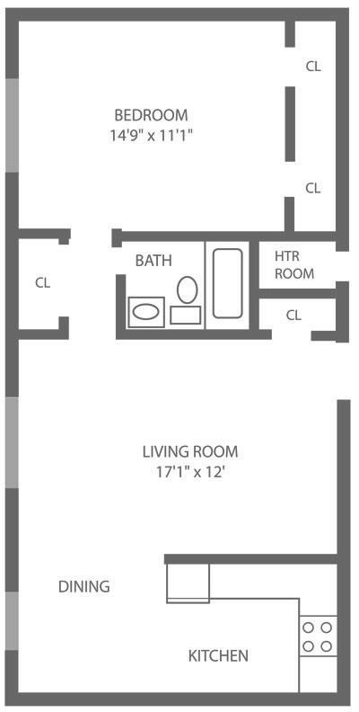 Pine Manor 1 Bedroom B