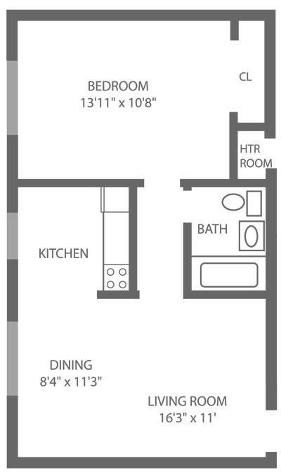 1 Bedroom Jr. Northeast Philadelphia Apartments   Pine Manor Apartments   The