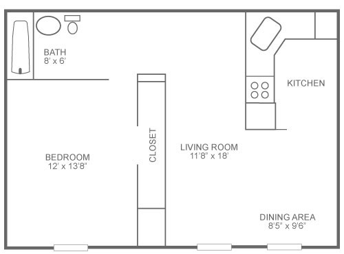 The Ridge Apartments 1 Bedroom B