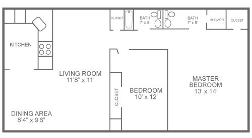 2-bedroom, 2-bathroom apartment for rent with 817 sq. ft in the Roxborough section of Philadelphia