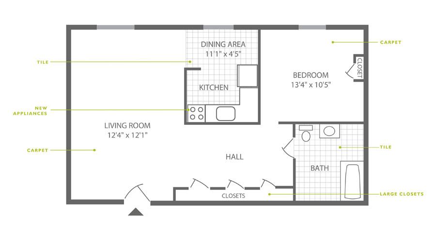 Westfield 1 Bedroom
