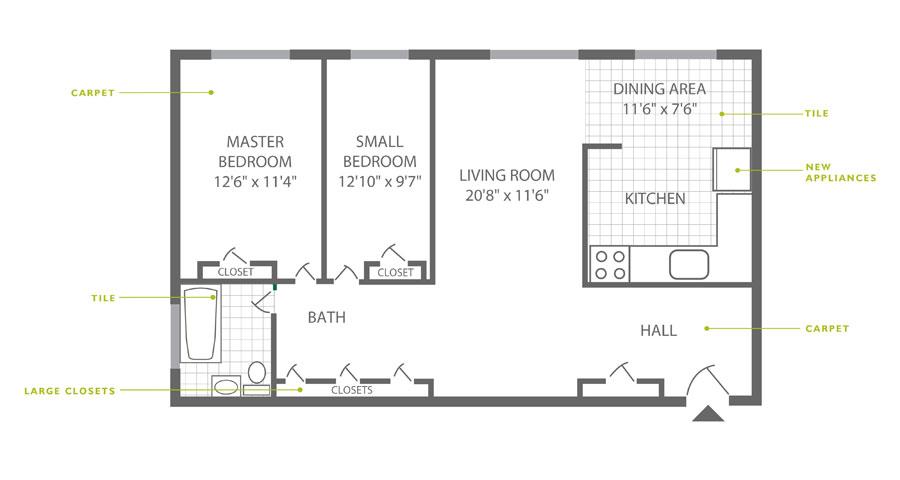 Westfield 2 Bedroom