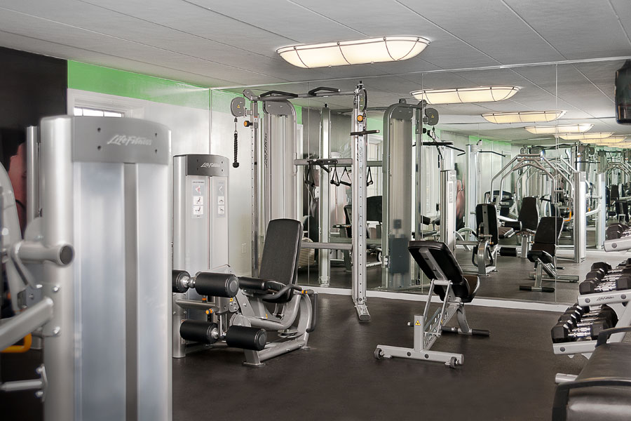 Whitney Apartments in Claymont DE fitness center with weight equipment