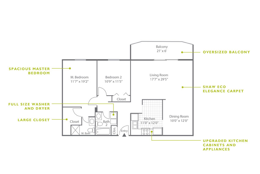 Whitney Floor Plan - 2 Bedroom B4 UK