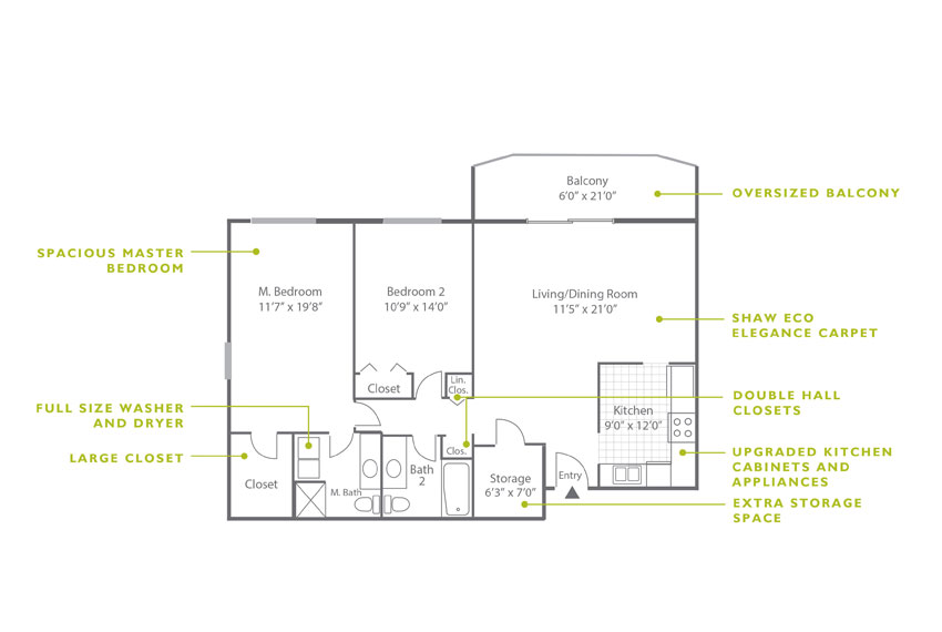 Whitney Floor Plan - 2 Bedroom B5 UK