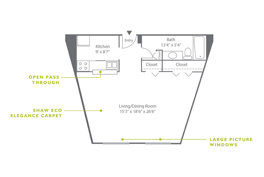 Whitney Floor Plan - Studio E2
