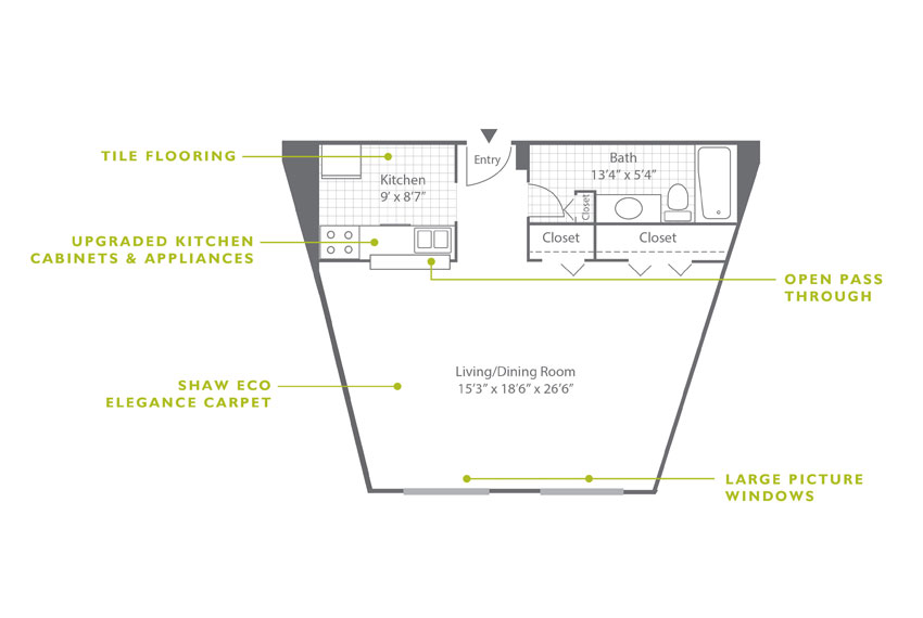 Whitney Floor Plan - Studio E2 U