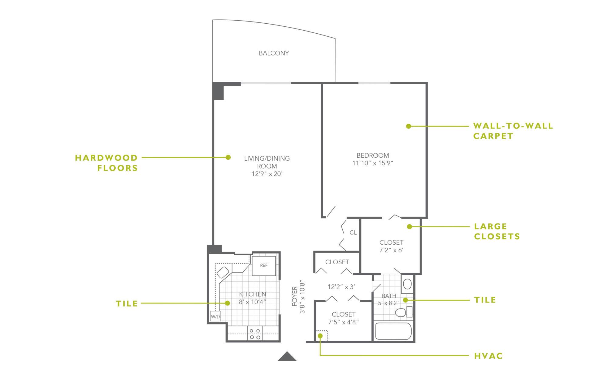 Plaza Apartments 1 Bedroom