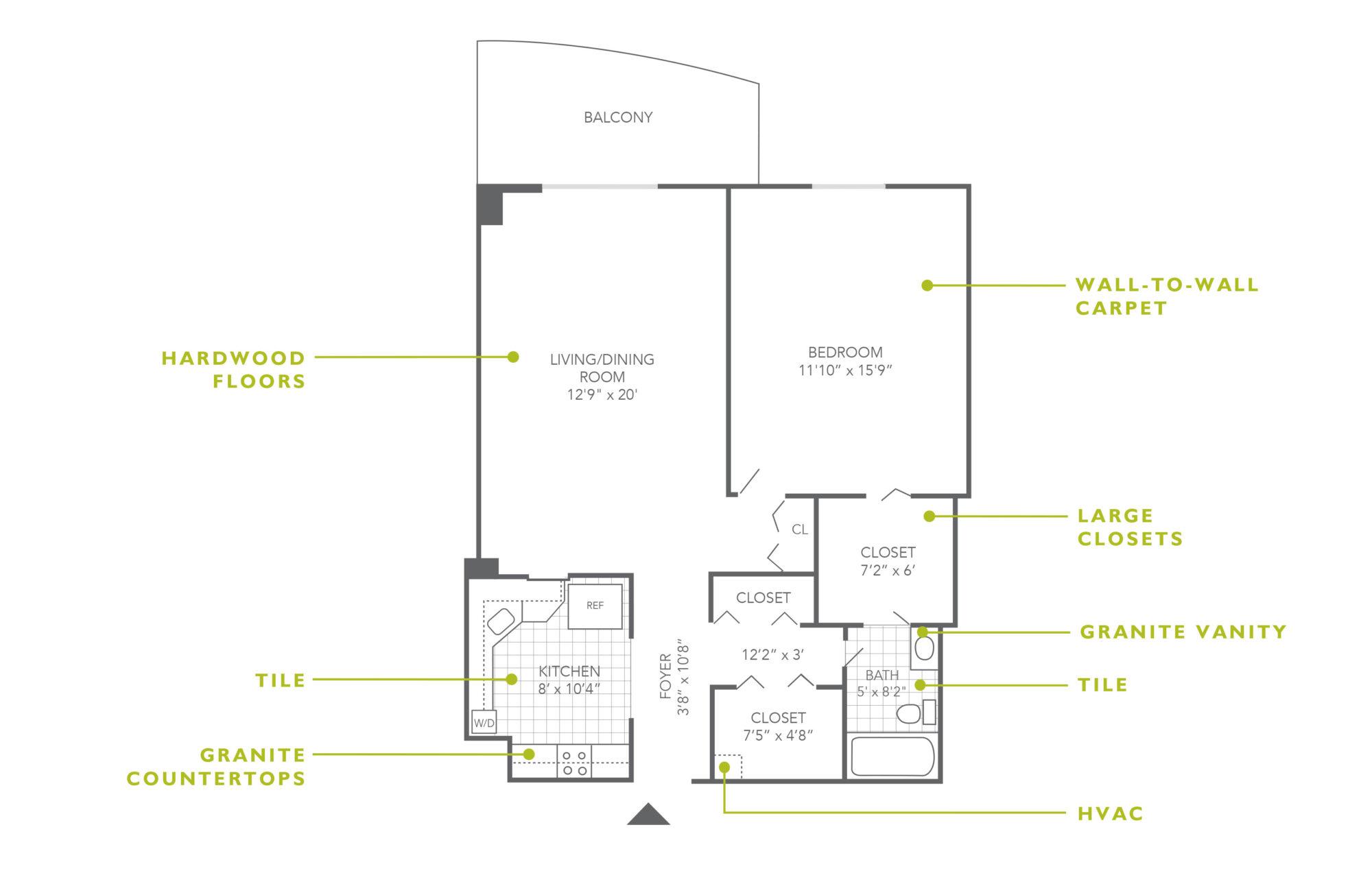 Plaza Apartments 1 Bedroom Upgrade