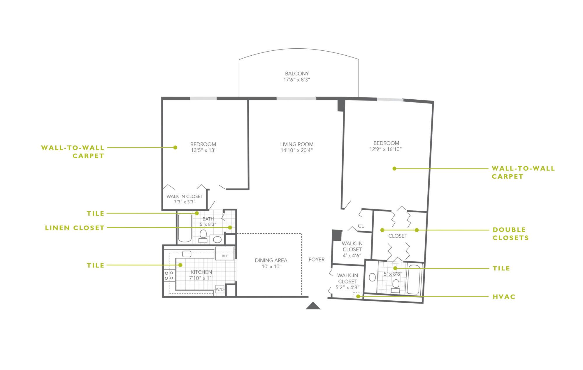 Plaza Apartments 2 Bedroom