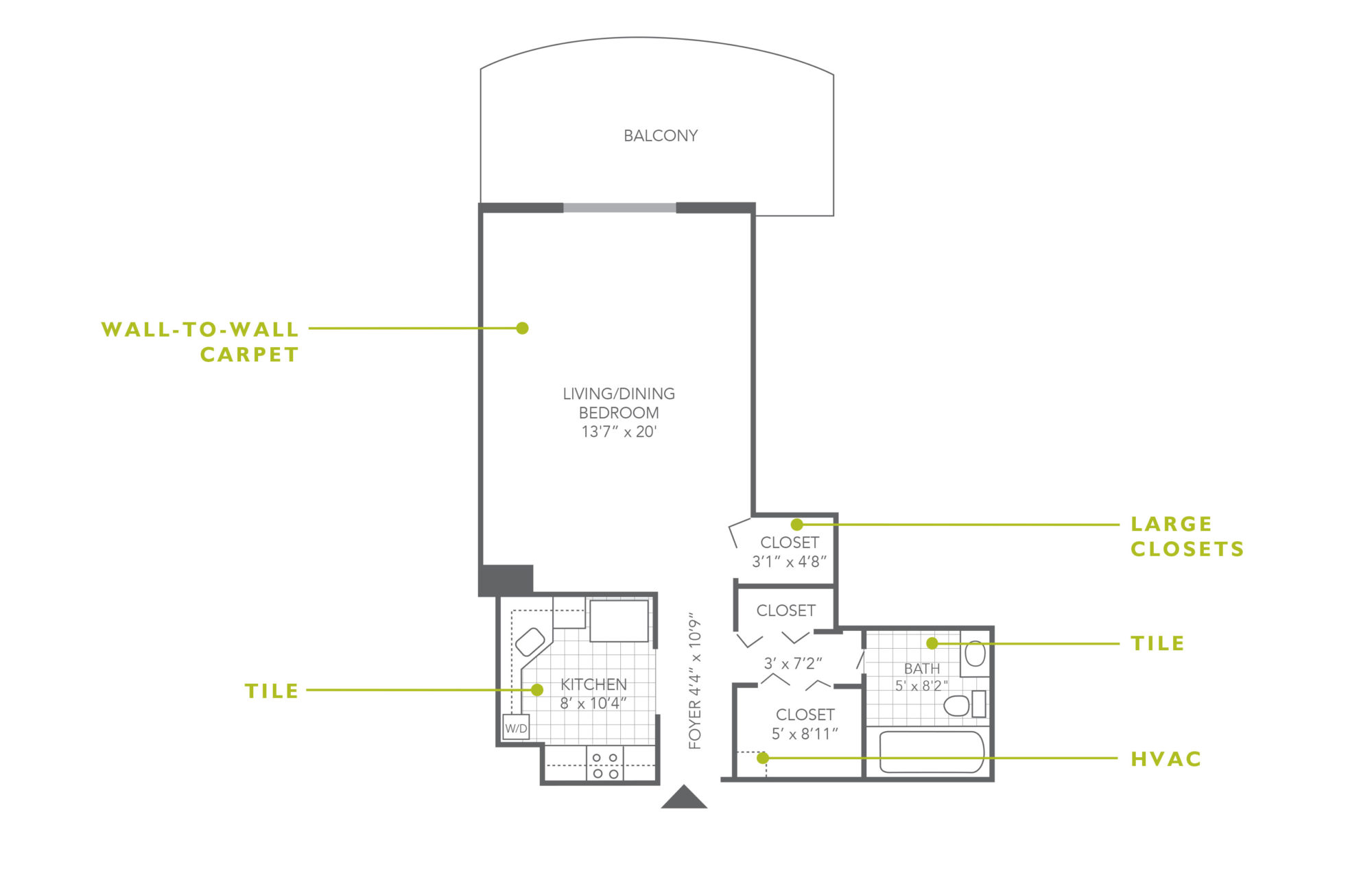 Plaza Apartments Studio