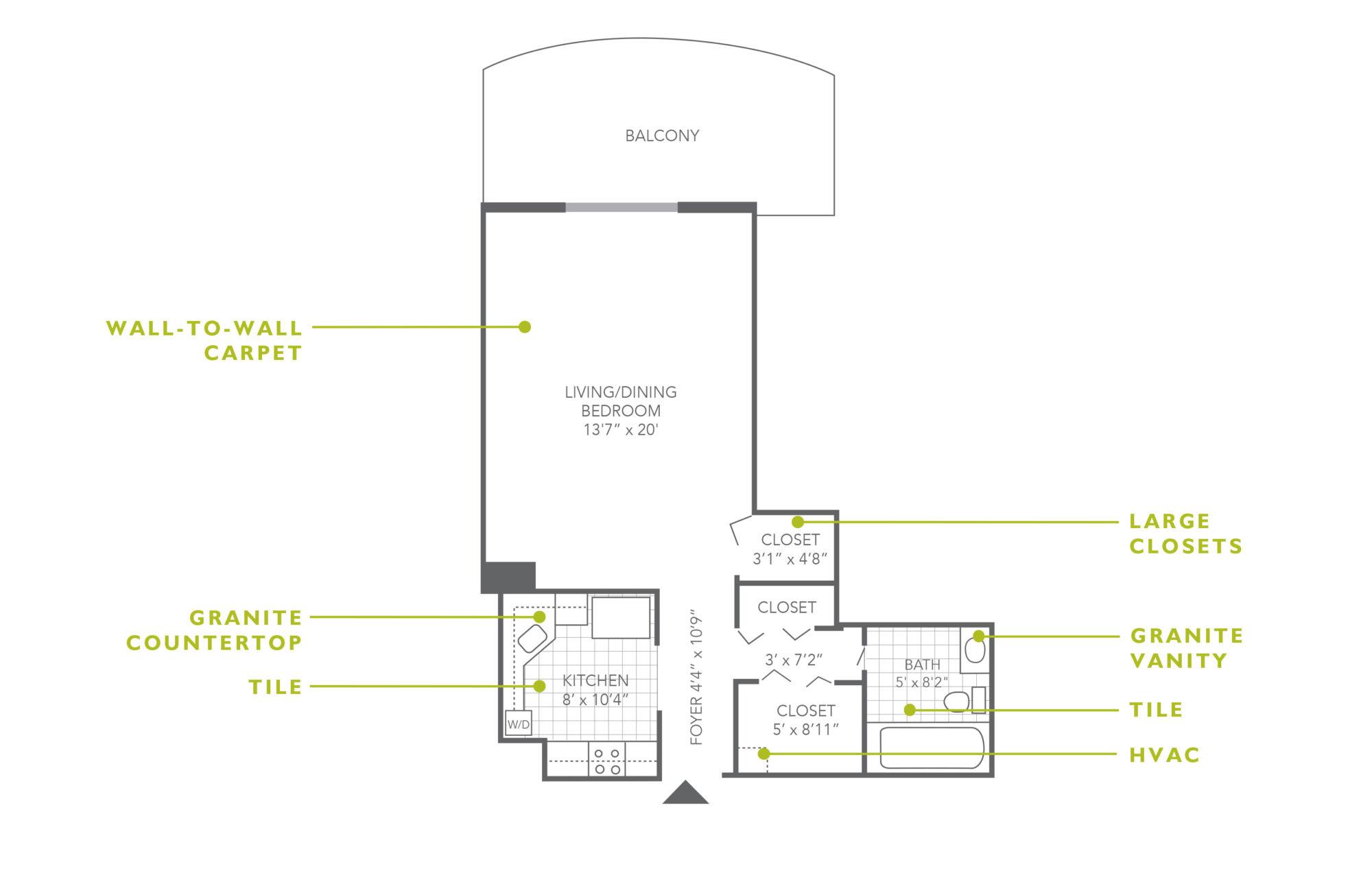 Plaza Apartments Studio Upgrade