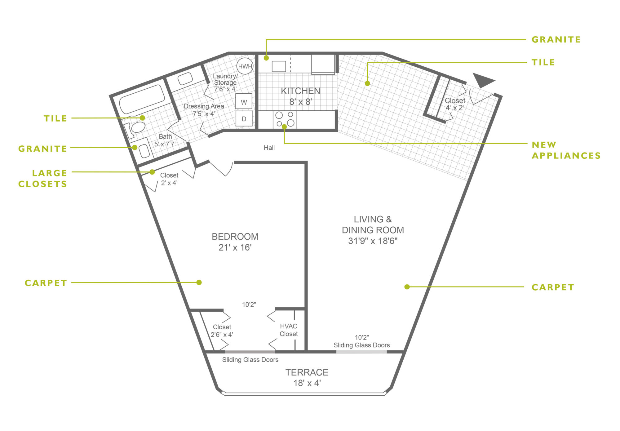1-bedroom apartment in King of Prussia at Valley Forge Towers with 1,079 sq. ft.