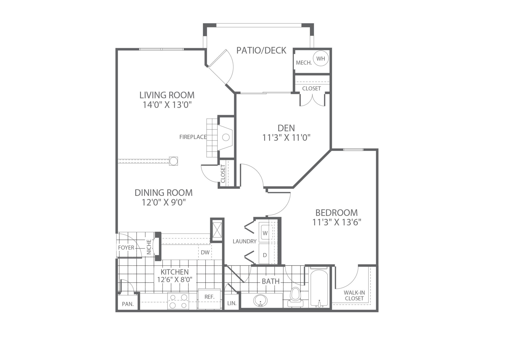 The Edge at Yardley 1 Bedroom/Den