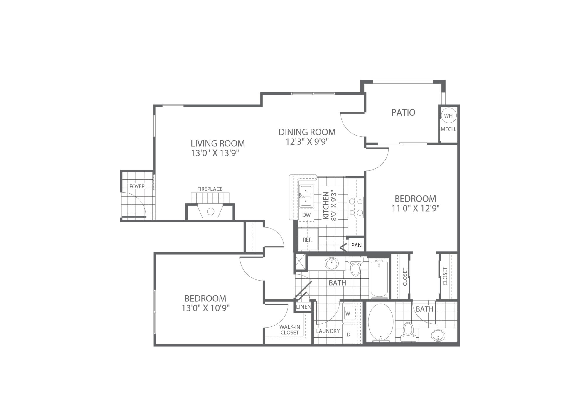The Edge at Yardley 2 Bedroom/2 Bath