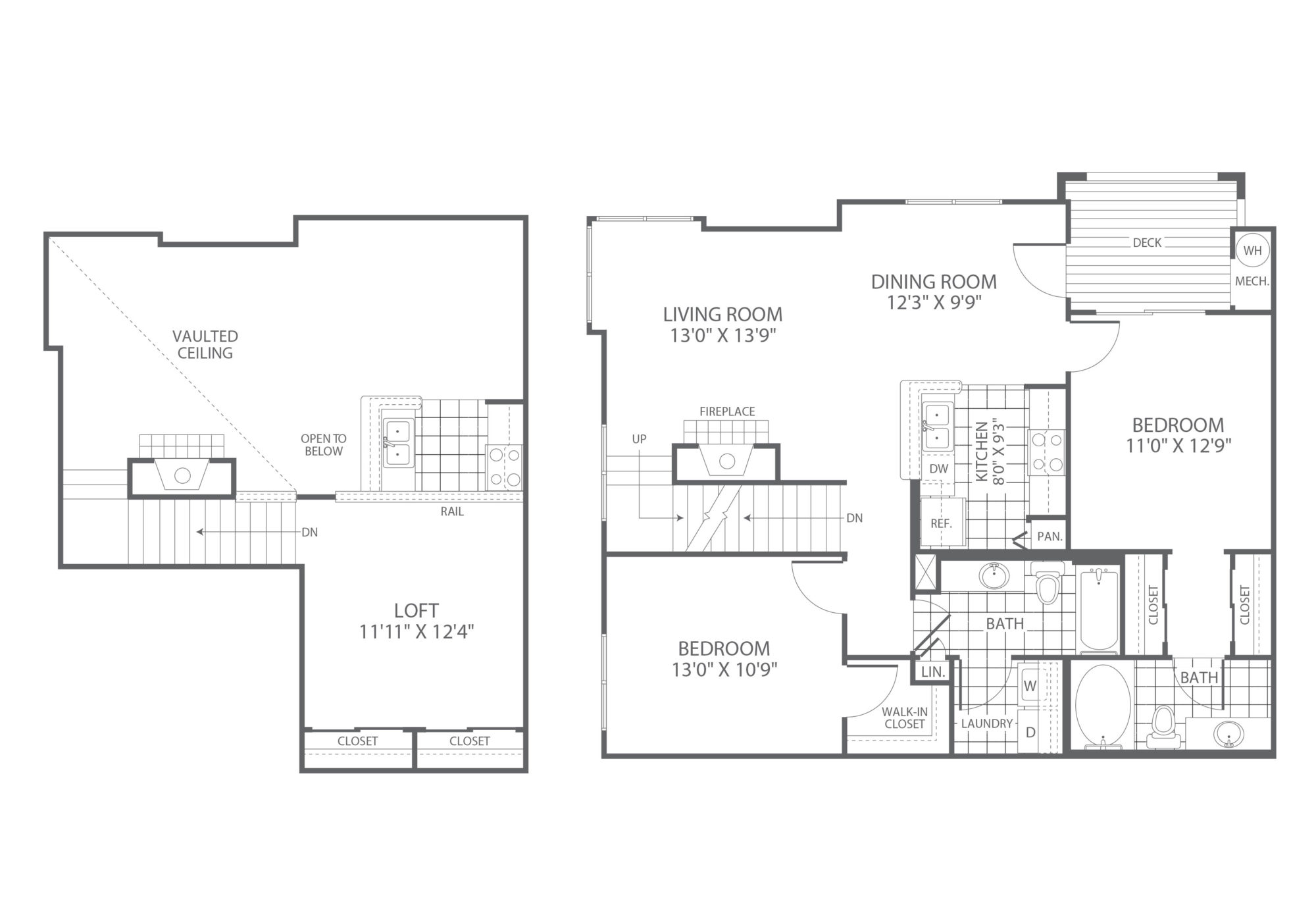 The Edge at Yardley 2 Bedroom/Loft