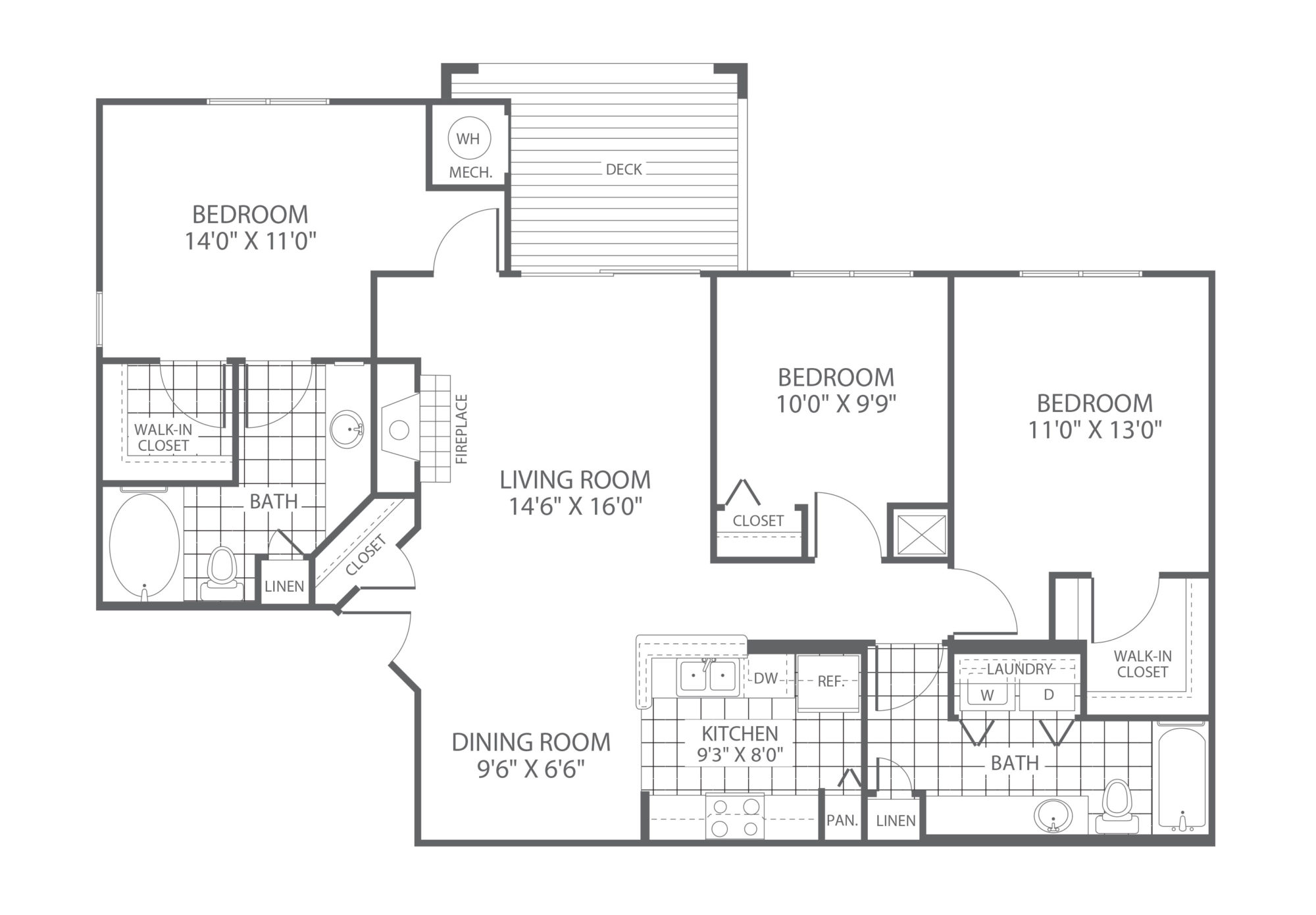 The Edge at Yardley 3 Bedroom/2 Bath