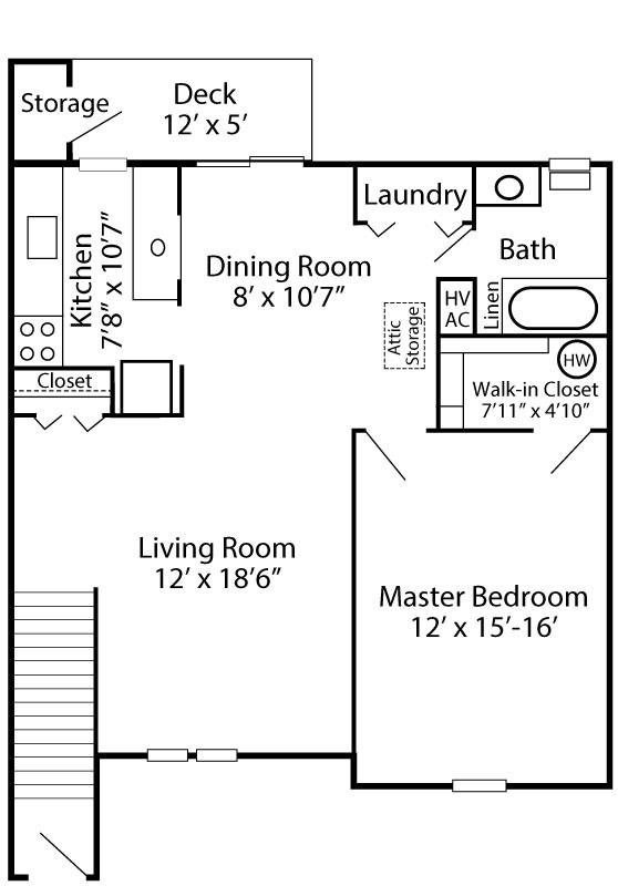 Exeter Village 1 Bedroom Abington Second Floor