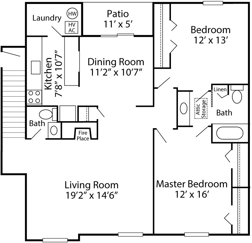 2 Bedroom Brighton Deluxe - 2nd Floor