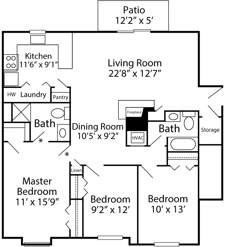3 Bedroom Chelsea - 1st Floor