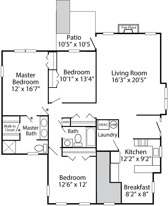 3 Bedroom Fenton - 1st Floor