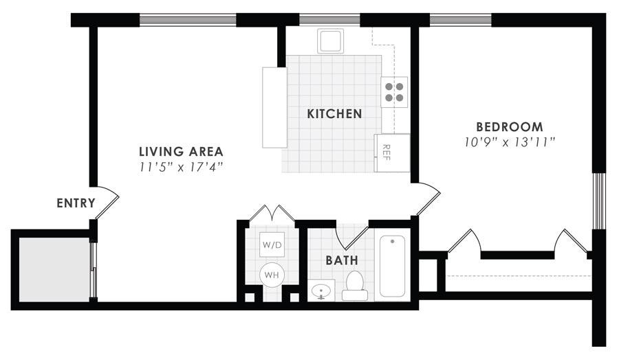 Gail Court Apartments 1 Bedroom/1 Bath Apartment A